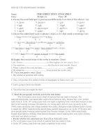 Bài kiểm tra số 1- Anh 9
