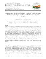 Experimental investigations and CFD study of temperature distribution during oscillating combustion in a crucible furnace