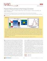 Plasmon Enhanced Solar-to-Fuel Energy Conversion
