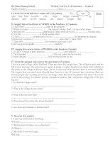 Test 1 (Unit 1+2) Grade 9