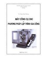 Bai giang Máy công cụ CNC & phương pháp lập trình gia công