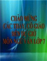 Đức tính giãn dị của Bác Hồ - Văn 7.