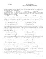 Đề thi môn Vật lí, đề số 12 (Dành cho thí sinh Không Phân ban)