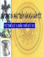 bài 31 Xây dựng và phát triển văn hóa dân tộc (TKX-XV)