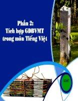 Tài liệu tập huấn PP tích hợp GDMT môn TV