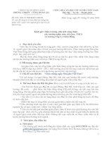 KẾ HOẠCH HỘI THI TIẾNG HÁT ĐOÀN VIÊN-GIÁO VIÊN CHÀO MỪNG NGÀY 20/11