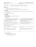 GA ÂN lớp 3 -Tuần 2