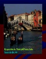 Kỳ quan châu Âu. Thành phố Venice. Italia. 040