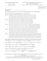 ĐỀ THI TUYỂN SINH ĐẠI HỌC NĂM 2011 Môn: TIẾNG ĐỨC; Khối D mã đề 952