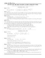 17 đề toán vào 10