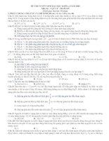 Hướng dẫn giải chi tiết đề thi Vật Lý Khối A năm 2009