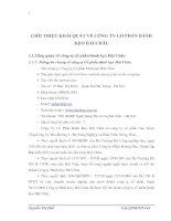 GIỚI THIỆU KHÁI QUÁT VỀ CÔNG TY CỔ PHẦN BÁNH KẸO HẢI CHÂU