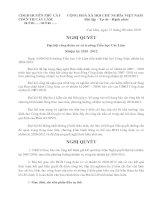 Nghị quyết Đại hội CĐCS trường TH Cát Lâm NK: 2010-2012