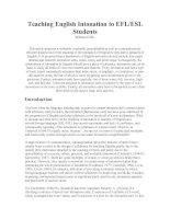 Teaching English Intonation to EF1