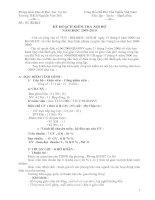 Kế hoạch thanh tra năm học 09