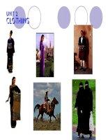 Unit 2: Clothing Write