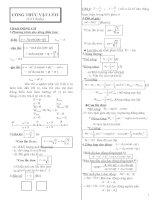 công thức vật lí lớp 12-cơ bản