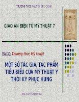 Bài 30: Thưởng thức mỹ thuật- GV: Nguyễn Thị Hương