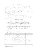 GIAÓ ÁN ÂM NHẠC LỚP 9: TIẾT 5 - Ôn tập bài hát: Nụ cười - Tập đọc nhạc: Giọng Mi thứ