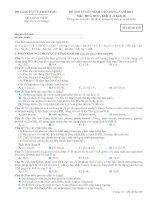 ĐỀ THI TUYỂN SINH CAO ĐẲNG NĂM 2012 Môn: HOÁ HỌC; Khối A và Khối B mã đề 169