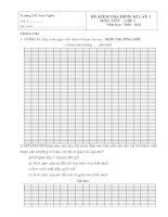 Bài Kiểm tra cả toán và Tiếng Việt( Tự Luận)