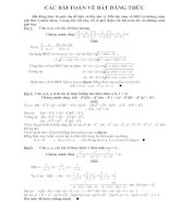 cách giải hay cho bài toán BĐT