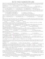 98 CÂU TRẮC NGHIỆM ESTE (ĐH) CÓ ĐÁP ÁN