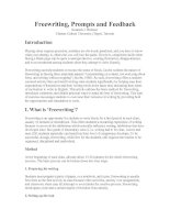 Freewriting, Prompts and Feedback.doc