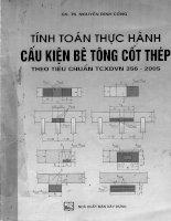Tính toán thực hành cấu kiện bê tông cốt thép theo tiêu chuẩn TCXDVN 356 - 2005