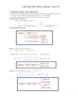 Các dạng phương trình THCS