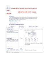 Thể dục 9 ( tiết 1-2 và 3-4)