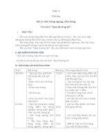 bài 2:tập hợp hàng ngang,dóng hàng, điểm số, chào báo cáo khi gv nhận lớp
