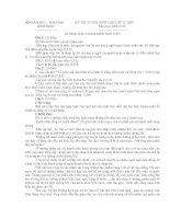 Đáp án môn văn Tuyển vào 10 Bình Định (09-10)
