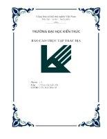 bìa báo cáo thực tập trắc địa
