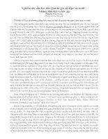 Nghiên cứu văn học dân gian từ góc độ type và motif - Những khả thủ và bất cập
