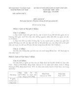 ĐỀ & ĐÁP ÁN TUYỂN SINH 10 CHUYÊN SỬ (08-09)