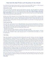 THAM LUẬN ĐẠI HỘI CNVC 2010- PHÁT HUY HS GIỎI