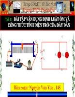 Tiết 11 - Bài 11 Bài tập vận dụng định luật ôm và công thức tính điện trở của dây dẫn