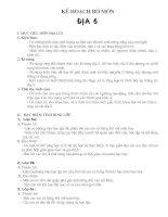 Kế hoạch bộ môn Địa lí 7