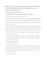 ĐỊNH HƯỚNG VÀ MỘT SỐ GIẢI PHÁP NHẰM NÂNG CAO HIỆU QUẢ ĐẦU TƯ PHÁT TRIỂN TẠI CÔNG TY CỔ PHẦN SẢN XUẤT VÀ THƯƠNG MẠI BAO BÌ C