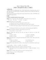 Kiểm tra 1 tiết hóa 9 Tiết 10