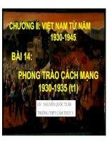 Bài 14 Phong trào cách mạng 1930-1935