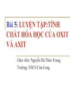 Bai 5 Luyen tap Oxi - Axit cuyen de truong