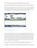 Tìm và loại bỏ các tập tin trùng nhau trong ổ cứng