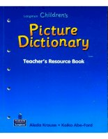 Children picture dictionary