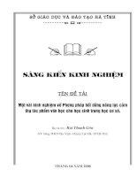 Phương pháp bồi dưỡng cảm thụ văn học THCS