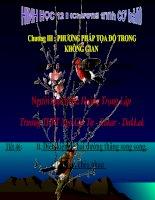 Bài 3 : PHƯƠNG TRÌNH ĐƯỜNG THẲNG  TRONG KHÔNG GIAN (Tiết 2)