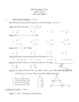Đề thi học kỳ  1 Toán 7