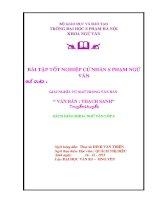 Đề tài Tốt nghiệp Đại học của Văn 5 Hưng Yên xin mời các cụ