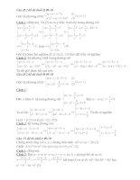 Cách giải khác của các bài toán TSDH 09